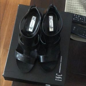 INC international Concepts Black Sandals